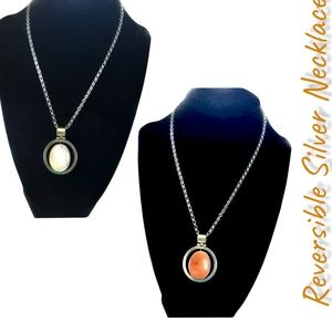 Abalone/Goldstone Silver Necklace